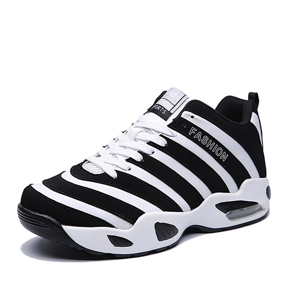 Suetar Zapatillas de Baloncesto con Diseño de Cebra para Hombre/Mujer Zapatillas Deportivas Mid-Top de Moda All Season Air Cushion Sneakers 42 EU / 260mm|Black