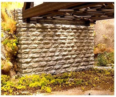 Chooch Enterprises HO Scale Double Cut Stone Bridge Abutment