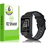 Pebble 2 Screen Protector (6-Pack), IQ Shield LiQuidSkin Full Coverage Screen Protector for Pebble Time 2 HD Clear Anti-Bubble Film - with