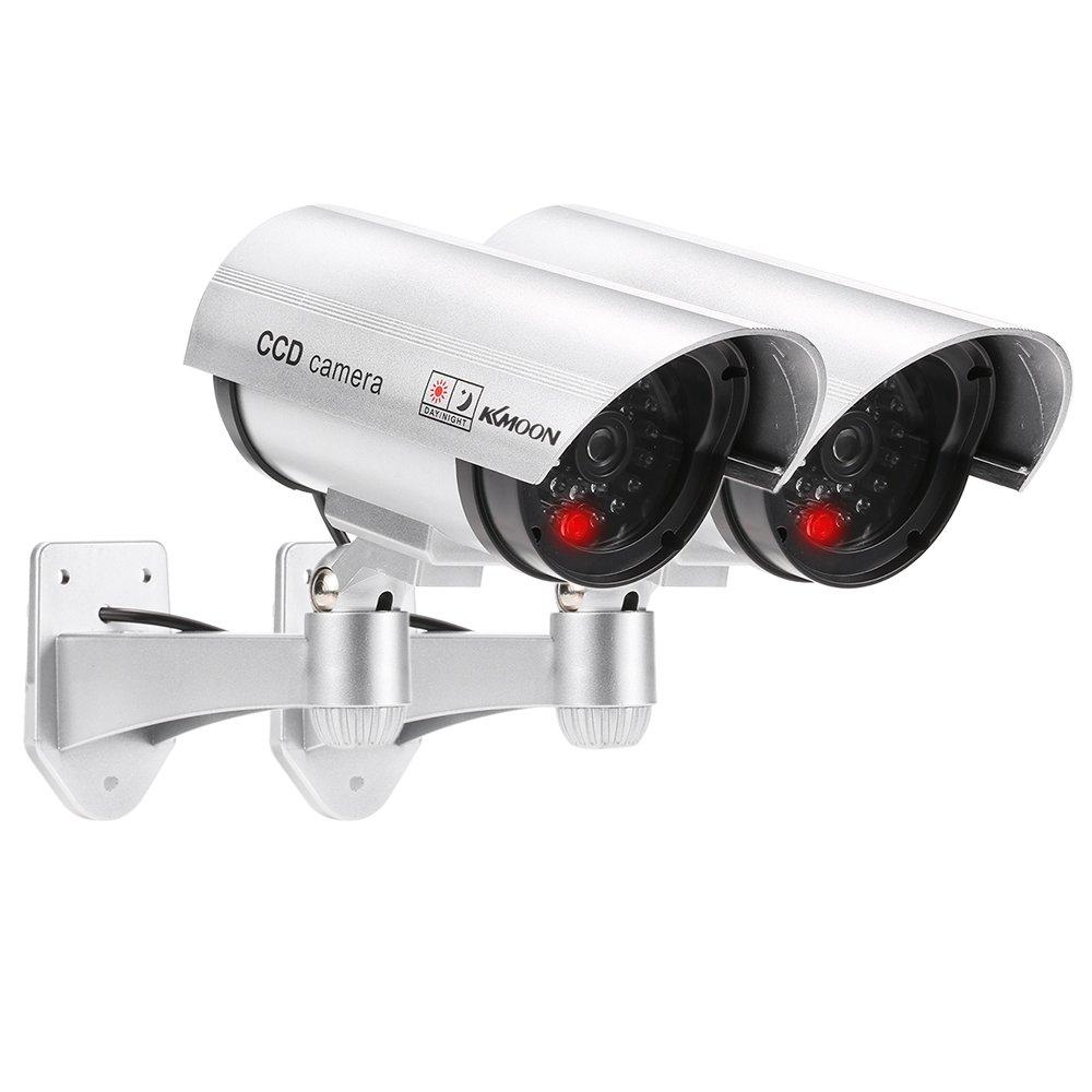 KKmoon Pcs Cámara Simulada Falsa Inalámbrico Impermeable Sistema de Vigilancia IR LED