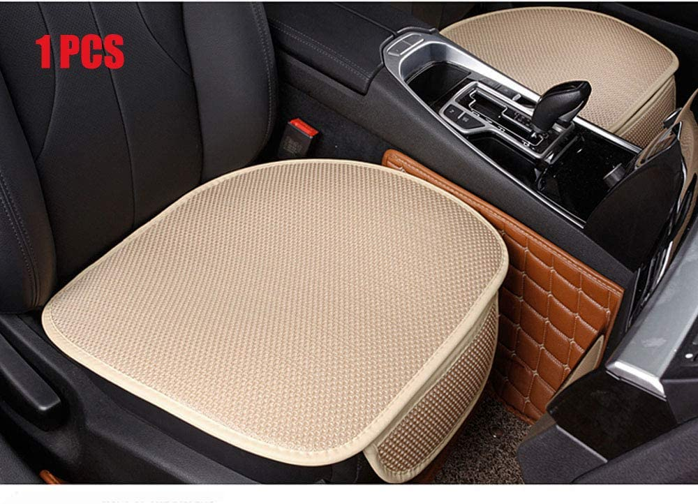 W 20.8/× D 21/× T 0.35inch EDEALYN Ultra-Luxury PU Leather Car seat Protection Cover Car seat Cover for Most Four-Door Sedan/&SUV,Single seat Cover Without backrest 1pcs 3D-Beige