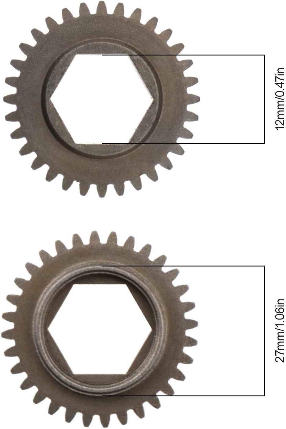 Plaque de Couverture Arri/ère D/émarreur Roto /Électrique 11011 Tige de D/émarrage 12mm avec Vis Compatible pour HSP 1//10 16//18//21 Voiture Mod/èle RC Moteur