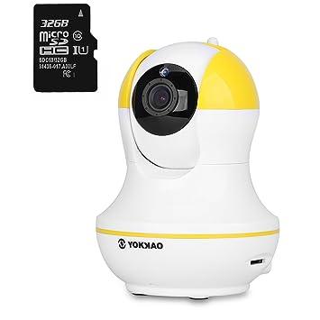 IP Kamera, YOKKAO drahtlos/Verdrahtet Tag/Nacht IP Kamera LAN/WLAN ...