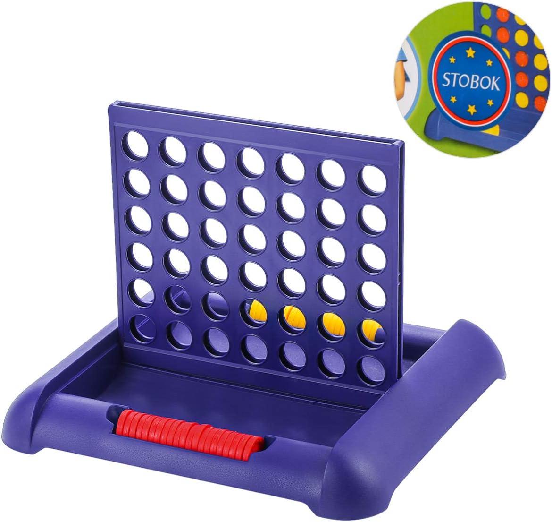 TOYANDONA Coloca 4 Mesa Juego de Habilidad Conecta 4 Juegos de Tablero (Azul): Amazon.es: Juguetes y juegos