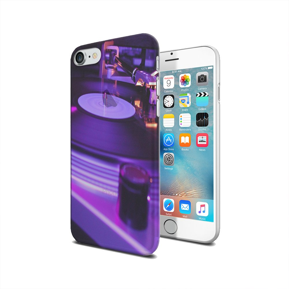 Amazon com: DJ Turntable - iPhone 7 Clear Cover Case: Cell