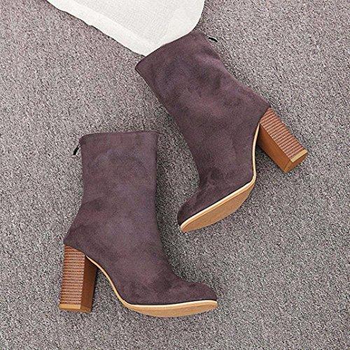 altos Botines Martin Manadlian Botas Shoes de Botas Tacones Gris mujer calientes 10575qw