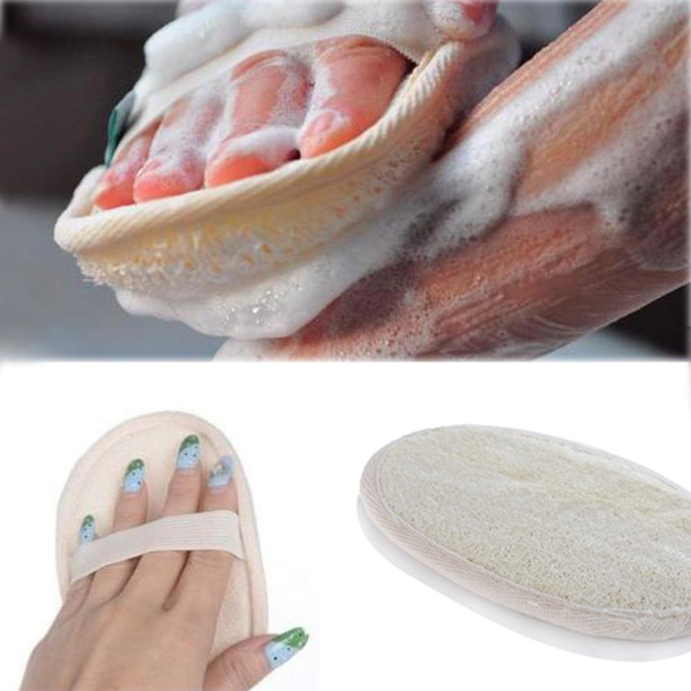 Hotsellhome New Natural Loofah Bath Shower Sponge Body Scrubber Exfoliator Washing Pad Hotsellhome New Fashion