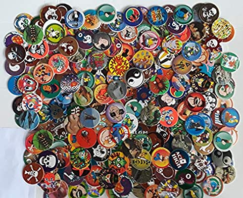 500 Assorted Pog Milkcaps with 10 Slammers     - Amazon com