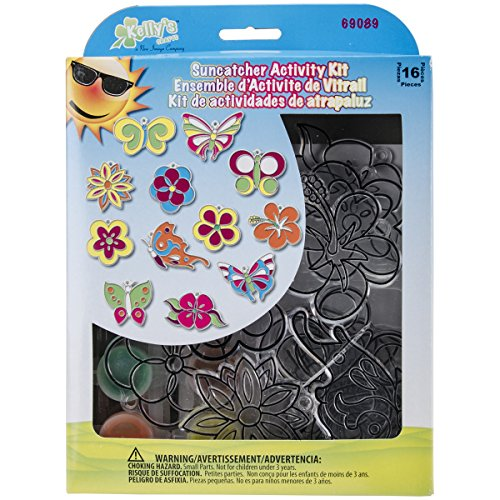 Suncatcher Group Activity Kit-Butterfly & Flowers 12/Pkg