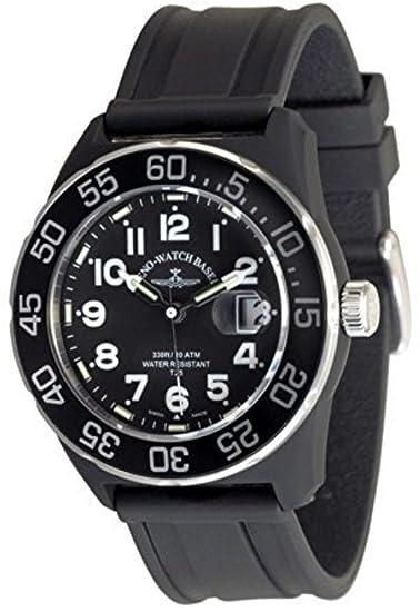 Zeno-Watch Reloj Mujer - Diver Look H3 Teflon - black - 6594Q-a1: Amazon.es: Relojes