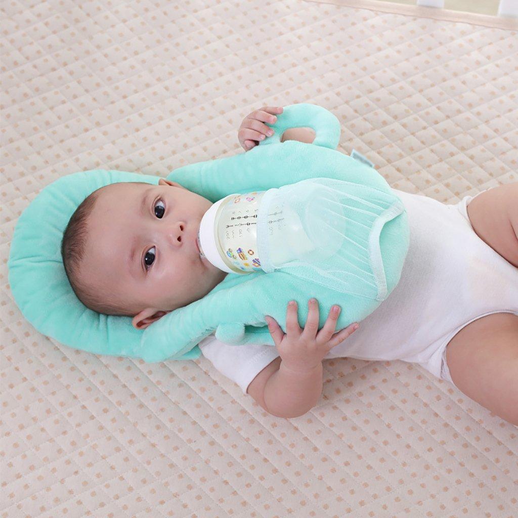 JLRQY Breastfeeding Nursing Pillows Self-Feeding Baby Pillow Multifunctional Portable Baby Bottle Holder Hands Free,B