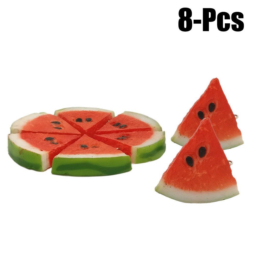Justdolife Lifelike Fruits Creative Watermelon Lemon Slices Fake Fruits Decorative Plant for Party Kitchen