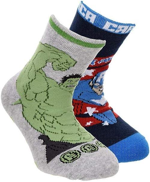 Suncity Pack 2 calcetines Los Vengadores Avengers Hulk y Capitán ...