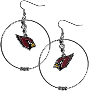 Siskiyou NFL 2-Inch Hoop Earrings