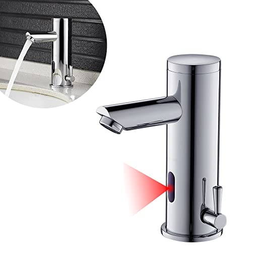 JUNESUN Rubinetto per lavandino Automatico con sensore a infrarossi Automatico Rubinetto Touchless per lavabo con Rubinetto