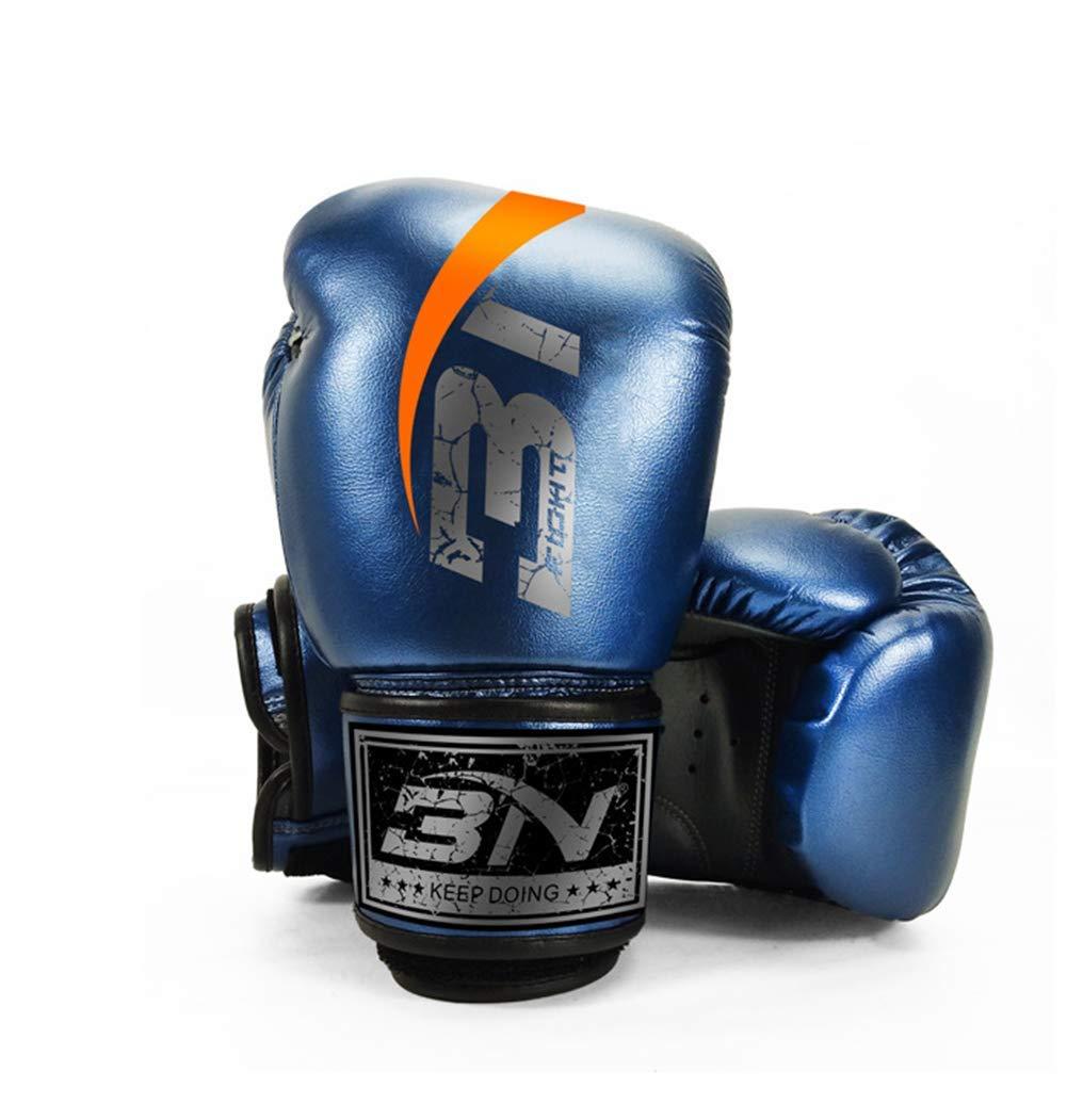 Ghqz Bn In Microfibra Pelle Di Fascia Alta Guantoni Da Boxe Adulti Fighting Muay Thai Boxing Club,blue10Oz