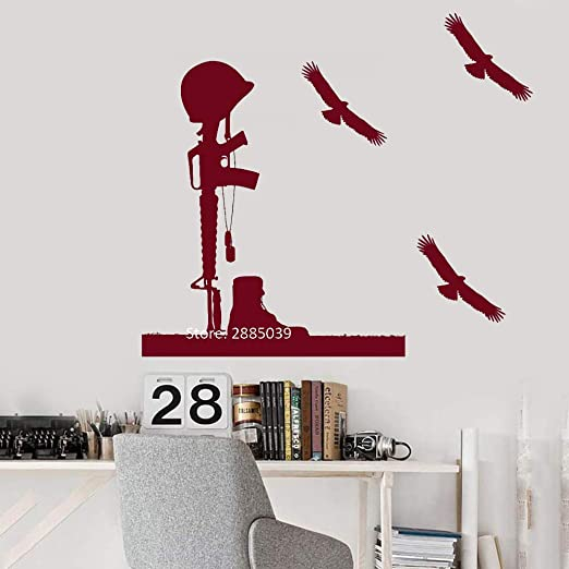 guijiumai Cool Soldier Helmet Rifle Pegatinas de Pared Vinilo ...