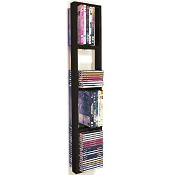 Bon IRIS   Wall Mounted 76 CD / 32 DVD / Blu Ray Storage Frame Shelf