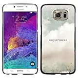 Hard Protector Case Cover Slim Back Shell for Samsung Galaxy S6 SM-G920 -Daydreams Vignette Quote Text Summer Field-