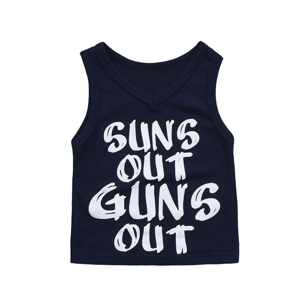 Shirts MITIY Cute Newborn Kids Baby Letter Print Boys Girls Outfits Clothes Vest Tank Top Cami Shirts