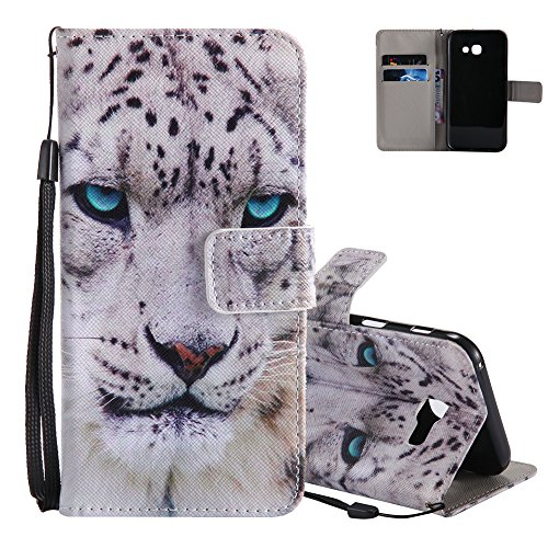 Leather Stand A520F inch Samsung Wallet Comics Aeeque Touch and Folio Galaxy A5 Magnetic Premium 2017 5 Holster Protection 2 Clasp Don't Galaxy A5 2017 Leopard White B Flip Unique Pattern A5 PU for My Case Phone ZBffOq0n