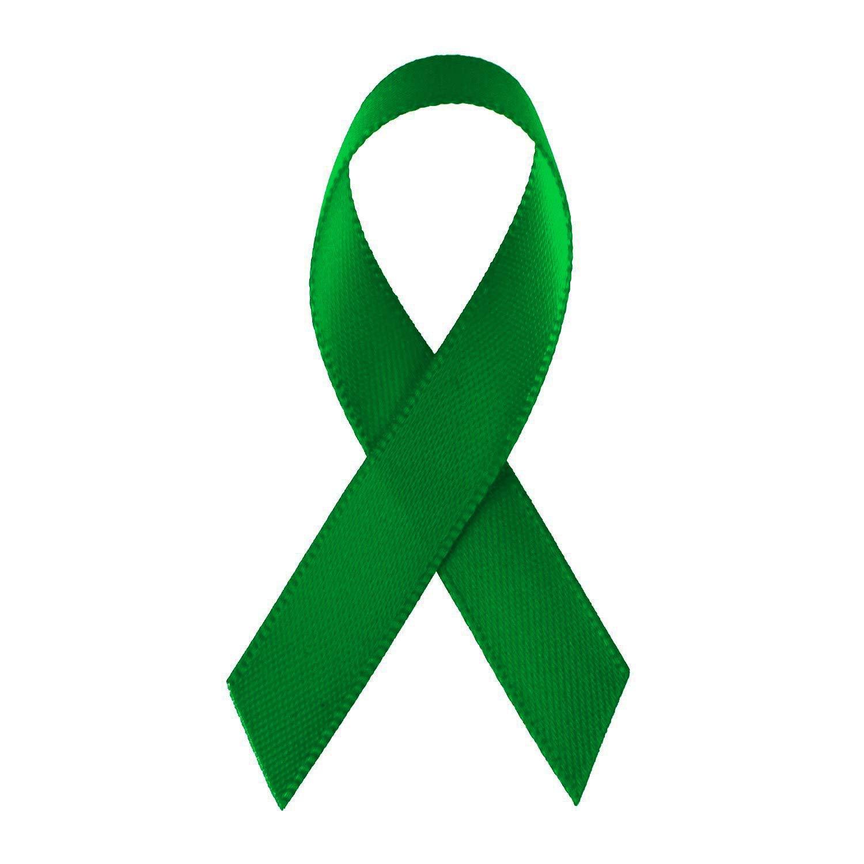 LaRibbons Green Satin Awareness Ribbons - Bag of 200 Fabric Ribbons