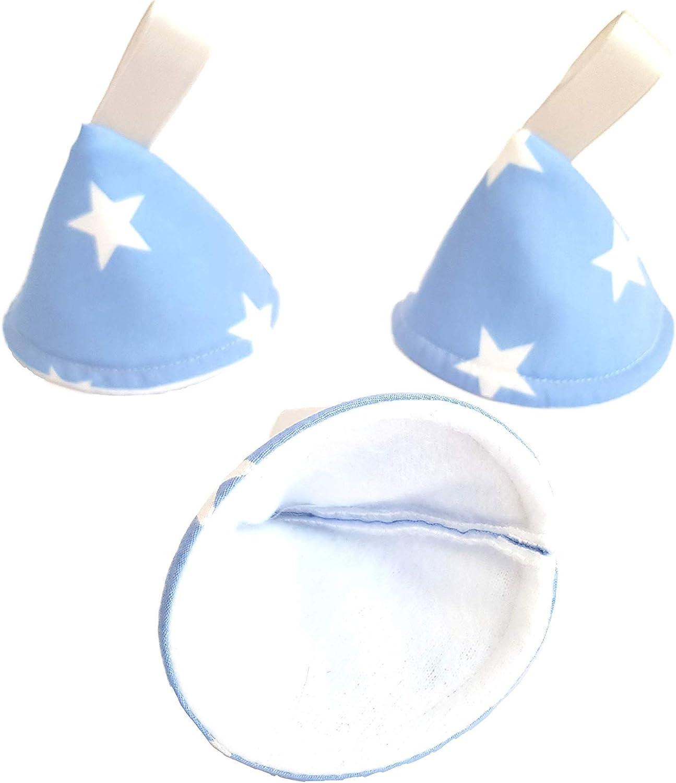 Pee Pee Stop Cones//Wee Wee Wigwams Teepees//Baby Blue Stars Set of 3
