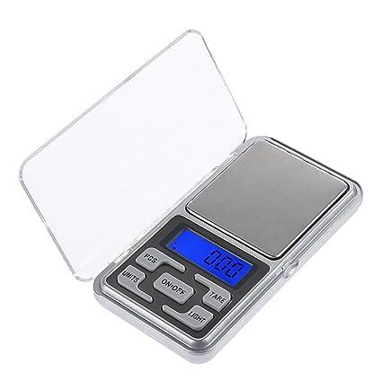 Báscula digital de bolsillo, báscula eletrónica portátil para pesar, 200 g/0,