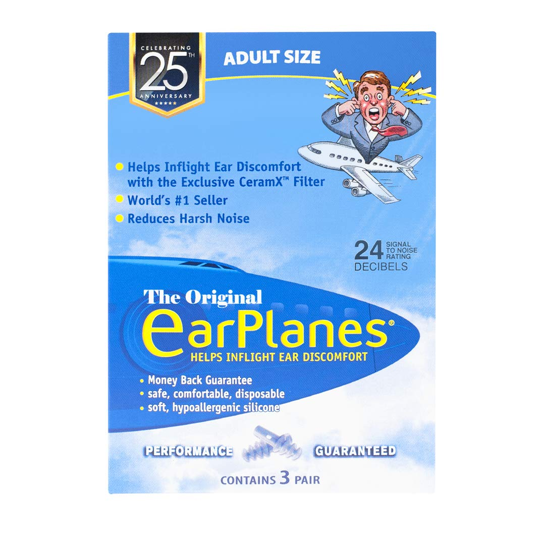 EarPlanes Earplugs, 3 Pairs