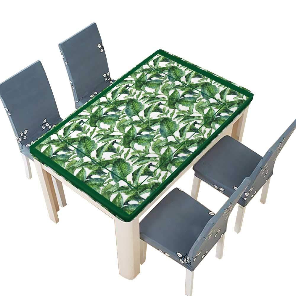 PINAFORE 室内/屋外用 ポリエステル製テーブルクロス 成長する緑の多肉植物葉 ウェディングレストラン パーティー装飾 幅25.5×長さ65インチ(絶縁) W41