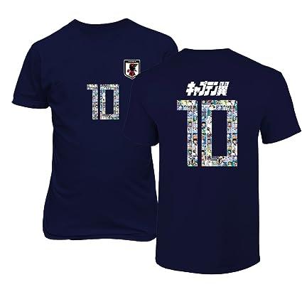 64787994b2b Tcamp Japan Novelty Captain Nankatsu Tsubasa 2018 World Soccer Championship  Men's T-Shirt (Navy