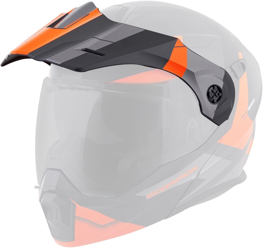 Scorpion Peak Visor Exo-AT950 Motorcycle Helmet Accessories Matte Black//One Size