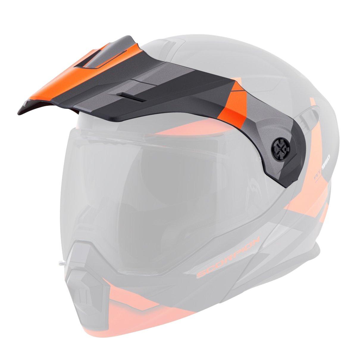 Orange//One Size Scorpion Peak Visor Exo-AT950 Motorcycle Helmet Accessories