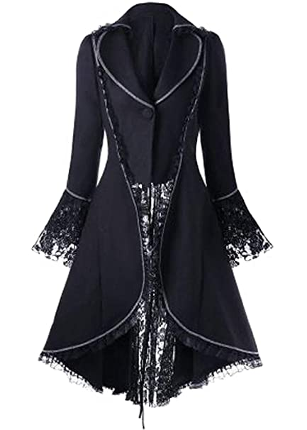 Men Vintage Victorian Gothic Steampunk Swallow-tailed Coat Swallow Tail Jacket