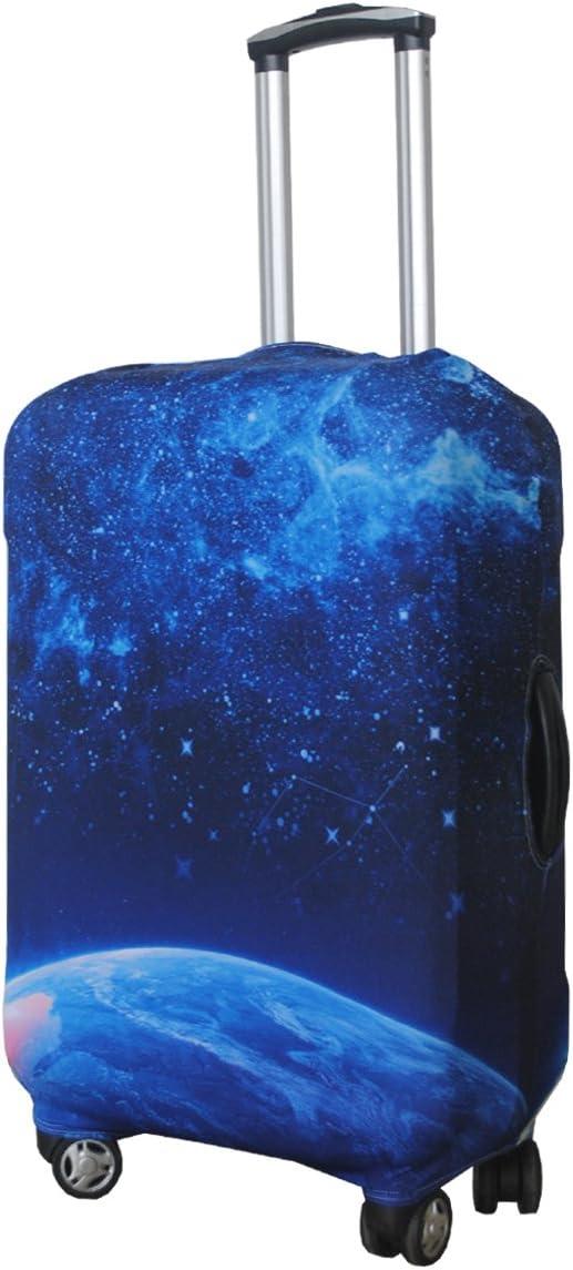 tama/ño 45,72-81,28 cm Azul Modern City Funda protectora de spandex Luckiplus para maleta de viaje