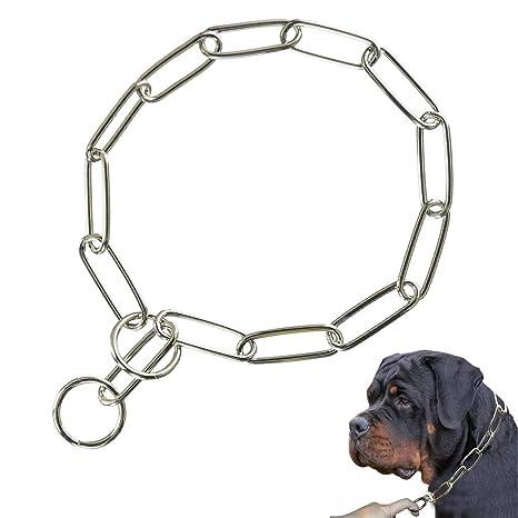 Supet Cadena de Gargantilla para Perro Acero Inoxidable Collar Educación para Perros Pequeño Medianos y Grandes