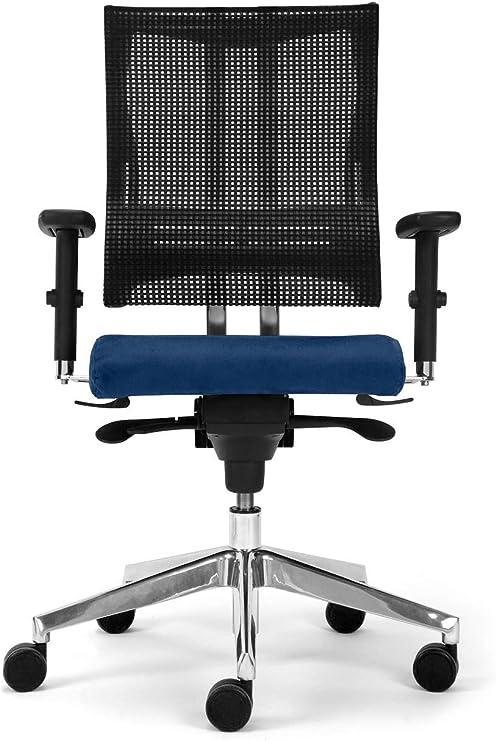 Nowy Styl Bürostuhl Net Motion blau ohne Kopfstütze, One Size