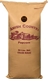 product image for Amish Country Popcorn | 50 Lb Bag Blue Kernels | Old Fashioned with Recipe Guide (50lb Bag)