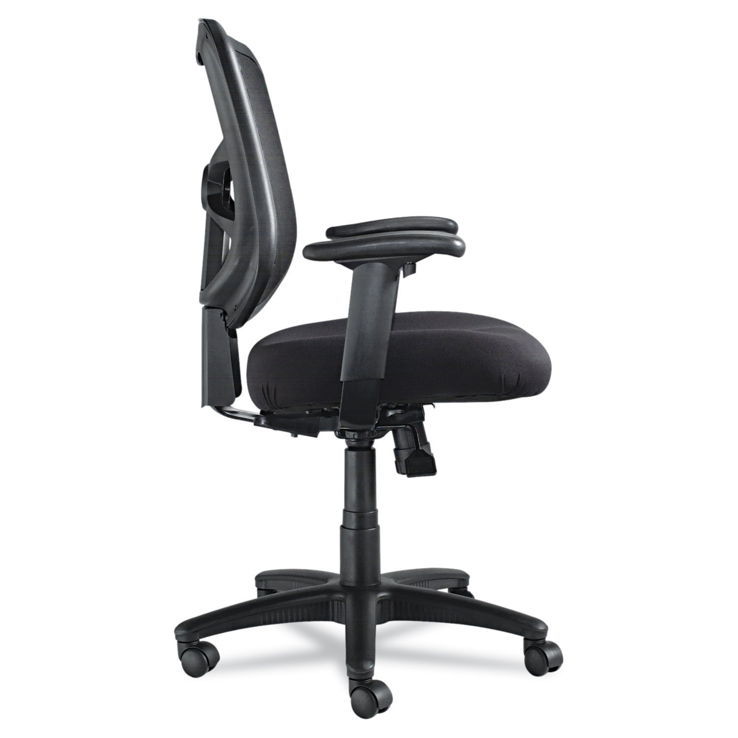 Office chair back view - Amazon Com Alera Elusion Series Mesh Mid Back Swivel Tilt Chair Black Kitchen Dining