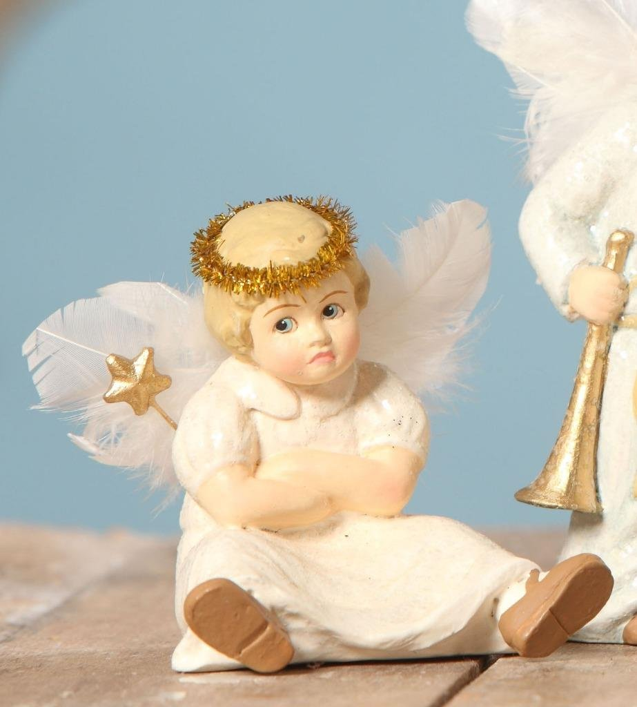 Bethany Lowe The Christmas Pageant Nativity Children Figure Angel Sitting