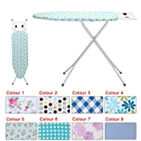 KingSaid Ironing Board Adjustable Ironing Board Step Hight with Steam Iron Rest