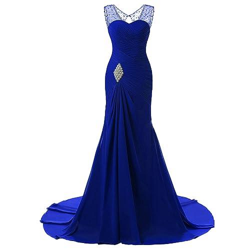Blue Plus Size Formal Mermaid Dresses: Amazon.com