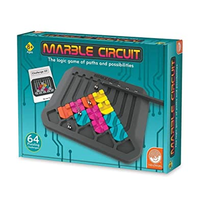 MindWare Marble Circuit – Logic Game for 1 Player – Great Gift for Kids who Like Puzzles & Brain teasers – 50 Card Challenges & 24pcs – Fun for Kids & Adults – Ages 8+: Toys & Games [5Bkhe0501646]