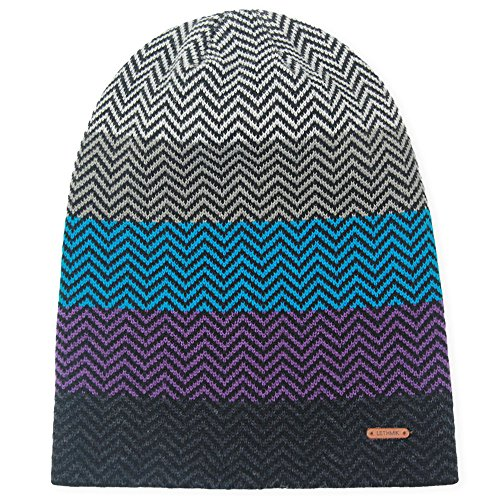lethmik Winter Long Slouchy Beanie Unique Mix Knit Ski Cap Hat Skully For Men & Women Blue (Skis Purpose)