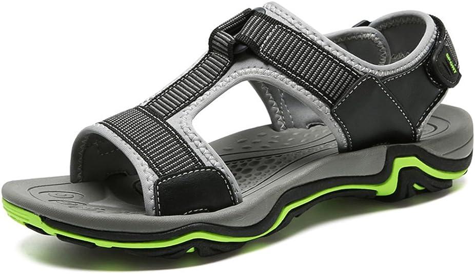 Motorun Hommes Sandales de Chaussures Sandales de Randonnée de Trekking en Cuir Hommes Sport et Chaussures de Plein Air