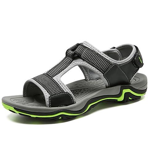 Motorun Hombres Sandalias Cuero Artesanal Zapatos Para Hombre (38,  2627-Black)