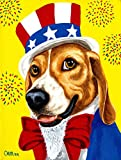 Caroline's Treasures AMB1337GF Unable Sam's USA Beagle Garden Flag, Small, Multicolor