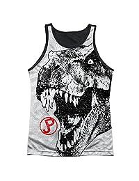 Jurassic Park T Rex Head Mens Tank Top Shirt with Black Back