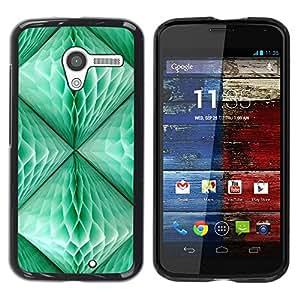 "Pulsar Snap-on Series Teléfono Carcasa Funda Case Caso para Motorola Moto X Motorola Moto X ( 1st Generation ) , Linterna Verde trullo 3D Arte Polígono"""