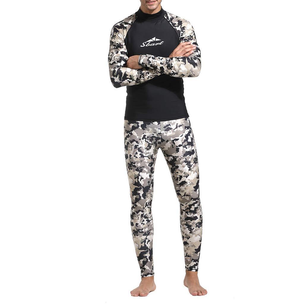 Men Wetsuit Thick Long Sleeve One Piece UV Protection Wetsuit for Men Alalaso Khaki